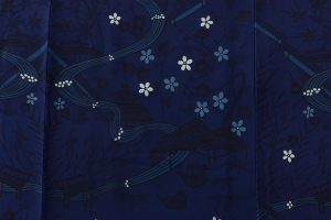 本紅型染 藍型小紋のサブ3画像