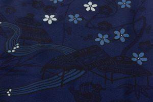 本紅型染 藍型小紋のサブ4画像