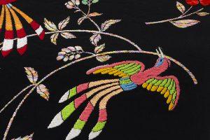 龍村美術織物たつむら製 袋帯「花喰舞鳥文」のサブ2画像