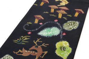 鈴木紀絵作 型絵染袋帯のサブ1画像