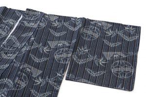 弓浜絣 綿着物のサブ1画像
