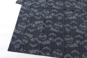 弓浜絣 綿着物のサブ2画像