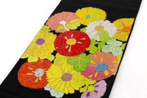 龍村平蔵製 袋帯「貝錫蒔絵菊」のサブ1画像