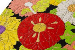 龍村平蔵製 袋帯「貝錫蒔絵菊」のサブ2画像