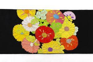 龍村平蔵製 袋帯「貝錫蒔絵菊」のサブ4画像
