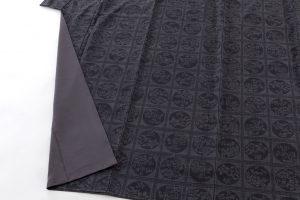 結城紬160亀甲総詰絣着物のサブ3画像
