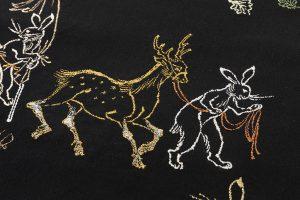 龍村平蔵製 袋帯「とばえまき錦」のサブ2画像