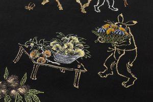 龍村平蔵製 袋帯「とばえまき錦」のサブ4画像