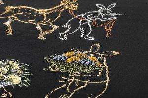 龍村平蔵製 袋帯「とばえまき錦」のサブ5画像