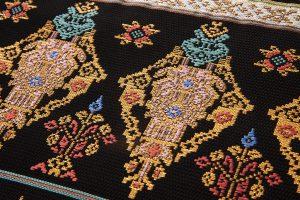 龍村美術織物製たつむら 夏袋帯地「タイ段文錦」のサブ2画像
