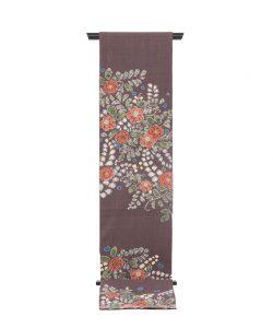結城紬地 辻が花模様袋帯のメイン画像