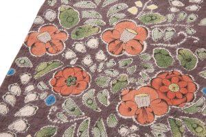 結城紬地 辻が花模様袋帯のサブ2画像