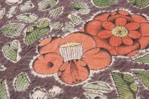 結城紬地 辻が花模様袋帯のサブ3画像