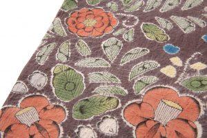 結城紬地 辻が花模様袋帯のサブ4画像