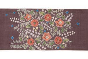 結城紬地 辻が花模様袋帯のサブ5画像