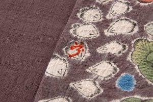 結城紬地 辻が花模様袋帯のサブ6画像
