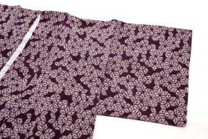 紫根染 綿着物のサブ1画像