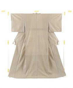 米須幸代作 首里花織着物のメイン画像
