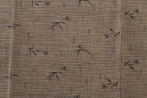藍田正雄作 柿渋染紬地江戸小紋「笹に雀」のサブ5画像