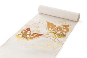 龍村美術織物製 たつむら製 綴織名古屋帯「胡蝶文」のサブ1画像