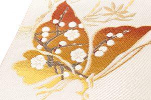 龍村美術織物製 たつむら製 綴織名古屋帯「胡蝶文」のサブ2画像