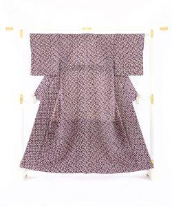 紫根染 紬着物のメイン画像