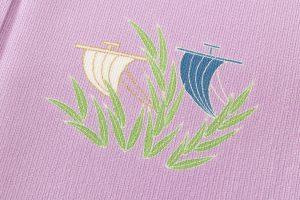 ぎをん齋藤製 縦絽縮緬地訪問着「芦に帆掛舟」のサブ6画像