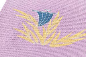 ぎをん齋藤製 縦絽縮緬地訪問着「芦に帆掛舟」のサブ7画像