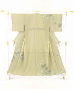 ニ代目由水十久作 本加賀友禅訪問着「秋桜」のメイン画像