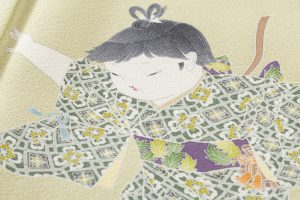 ニ代目由水十久作 本加賀友禅訪問着「秋桜」のサブ4画像