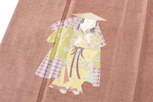 初代由水十久作 紬地本加賀友禅訪問着「りょうぶ」のサブ5画像