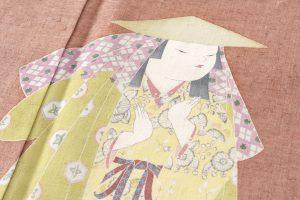 初代由水十久作 紬地本加賀友禅訪問着「りょうぶ」のサブ6画像