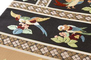 龍村平蔵製 袋帯「木画インコ」のサブ2画像