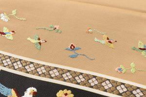 龍村平蔵製 袋帯「木画インコ」のサブ3画像