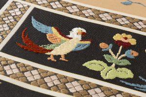 龍村平蔵製 袋帯「木画インコ」のサブ4画像