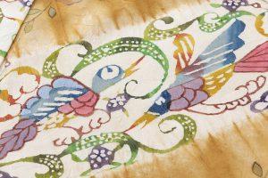 鈴木紀絵作 型絵染紬着物地「矢羽」のサブ4画像
