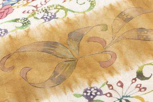 鈴木紀絵作 型絵染紬着物地「矢羽」のサブ5画像