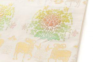 龍村平蔵製 袋帯 「羊花堆朱錦」のサブ2画像