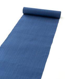芝崎圭一作 座繰手引糸藍染紬 着尺のメイン画像