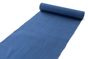 芝崎圭一作 座繰手引糸藍染紬 着尺のサブ1画像