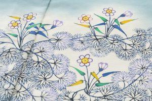 釜我敏子作 夏訪問着地 「水草文」のサブ4画像