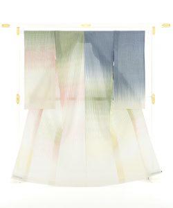 人間国宝 土屋順紀作 生絹(すずし)着物「荷風香気」紋紗のメイン画像