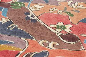 添田敏子作 型絵染紬着物地 「岩万花」のサブ3画像