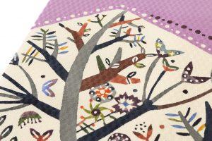 佐藤百恵作 顔料型絵染名古屋帯「赤ずきんちゃん」のサブ2画像