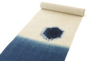 新道弘之作 正藍染麻名古屋帯地のサブ1画像