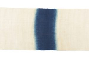 新道弘之作 正藍染麻名古屋帯地のサブ6画像
