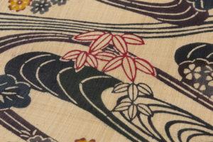 芭蕉布 本紅型染 名古屋帯のサブ2画像