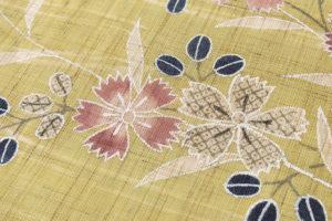 工芸きもの野口作 麻名古屋帯地 「流水に撫子」のサブ3画像