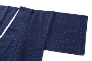 秋山眞和作 綾の手紬着物のサブ1画像