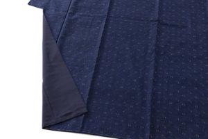 秋山眞和作 綾の手紬着物のサブ3画像